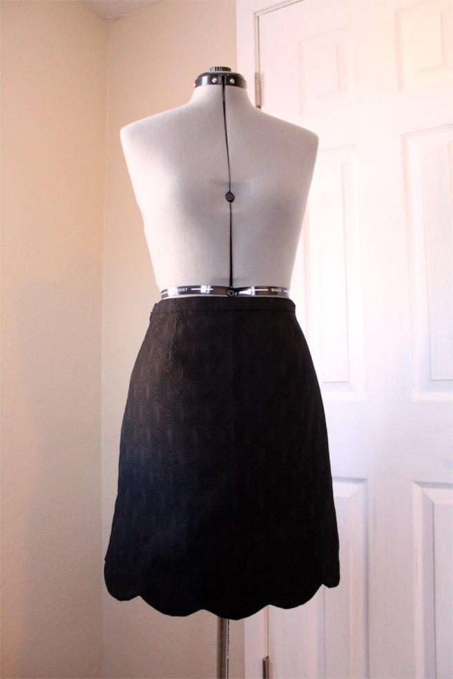 Black Jacquard Meringue Skirt1