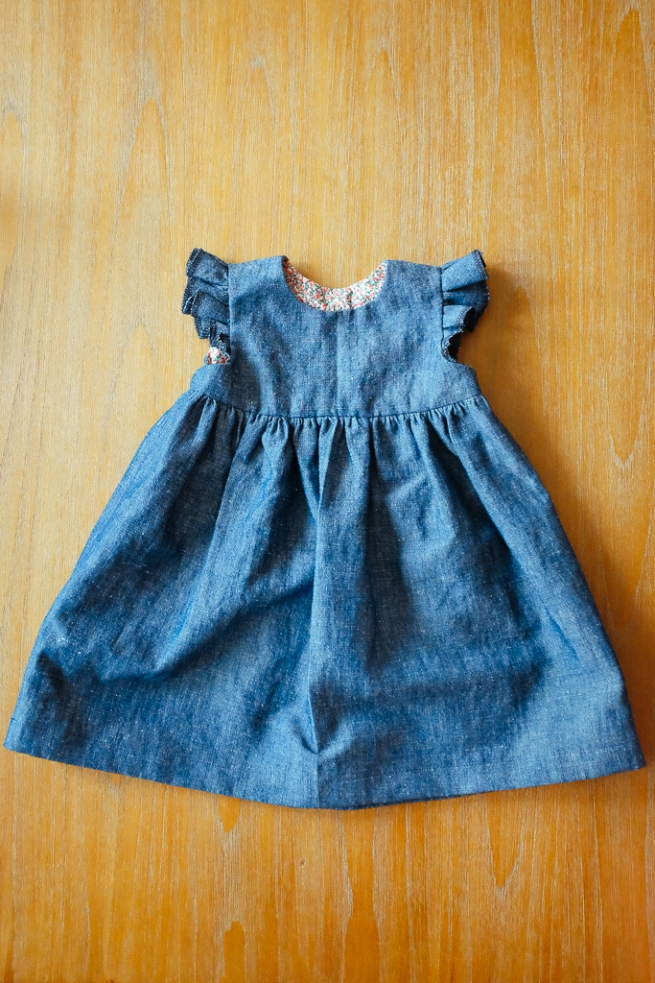 Blanca Pate_Made by Rae Geranium Dress in denim_2