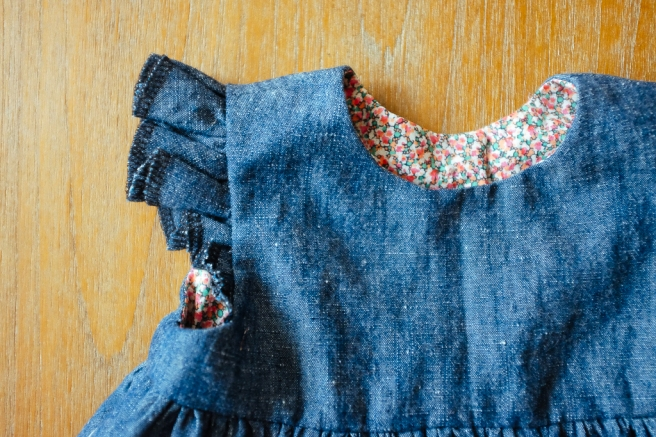 Blanca Pate_Made by Rae Geranium Dress in denim_1